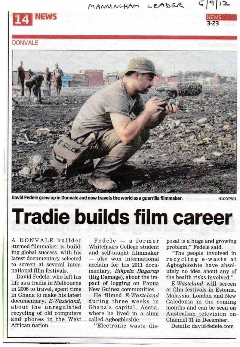 6 - Article in local paper Sept 2012